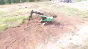 Excavator for sale or rent.