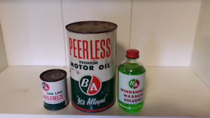 B/A  & Esso oil cans