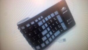 computer keyboard BONUSIS Foldable Silicone Keyboard Flexible
