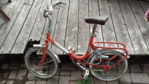 Antique Kids Folding Bike - Very Rare/Unique