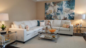 ~ CUSTOM MAKE ~ LARGE SECTIONAL - CHOOSE ANY COLOR + ANY FABRIC