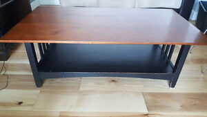 Real wood coffee table