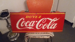 enseigne metal  coca cola ORIGINAL