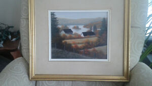 Painture encadree originale William J. Saunders