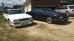 1989 Buick Ttype & 1987 two for the price of one