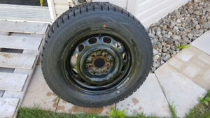 4 X Dunlop Winter MAXX Tires - 205/65R15 with rims