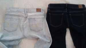 american eagle size 2 jeans 2 pairs