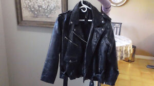 Medium Black Leather Bike Jacket