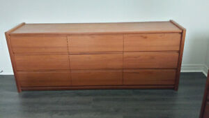 4 piece  Queen teak bedroom set (used)
