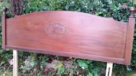 HEADBOARD beautiful Arts & Crafts double mahogany