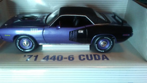 "1/18  ""71 CUDA 440-6-PACK"" Hard to find Ertl!"