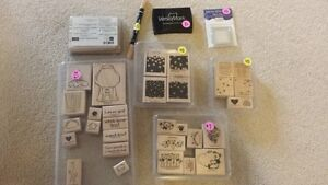 Stampin' Up - stamps & pen & tags