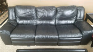 """Genuine """"not bonded"""" Leather Couch and Loveseat"""
