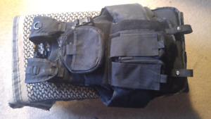 Velcro Airsoft Paintball Vest Molle Mag Pod Pouches