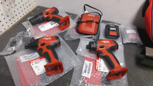 Kit Hilti Neuf 12v 3 Outils 2 Batteries + Chargeur