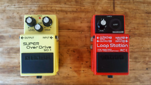 Boss RC-1 Loop Station and Boss SD-1 Super Overdrive