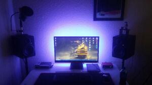 HP 27vx 1080p  Computer Monitor w/LED back light kit