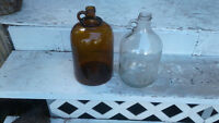 2 Vintage 1 gallon jugs