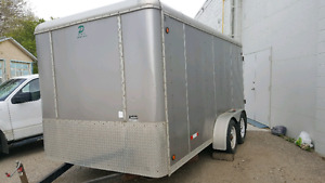 2007 7 X 14 cargo trailer rear barn style door tandem wheels