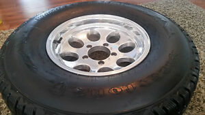 Firestone winterforce LT studded tires and rims