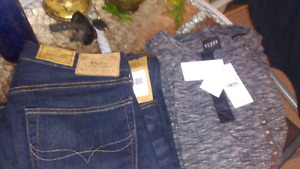 Polo jeans and guess shirts