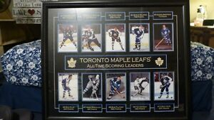 Toronto Maple Leafs - All Time Points Leaders - Framed Art