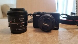 Canon M100 + EF-M 22mm + EF-S 50mm + Adapter + More
