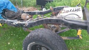 CJ5 Frame with various upgrades, Widetrack axles, Part out