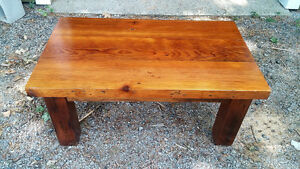 Stunning reclaimed lumber coffee table