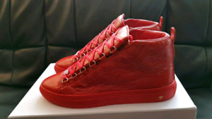 BALENCIAGA ARENA HIGH RED BRAND NEW IN BOX AUTHENTIC SIZE 41, 42