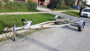 Like new galvanized escort boat trailer
