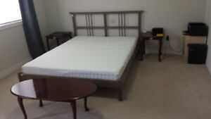 IKEA bed ( queen size mattress with stain protection)