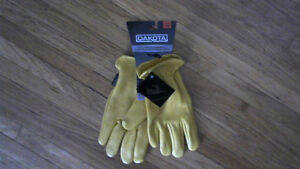 Dakota Full Grain Deerskin Leather Work Gloves Brand New