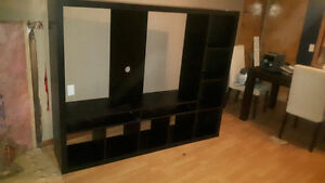 Dark tv entertainment unit fits 55""