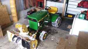 John deere with snow blower