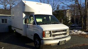 2002 Chev 3500 Diesel LOW MILEAGE Cube truck Cube Van