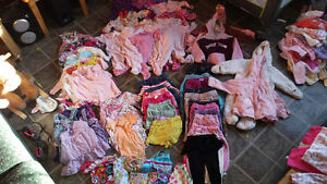 Baby girl clothes ranging anywhere from 9m to 24m