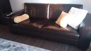 Sofa set - couch & love seat / sofa & causeuse