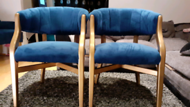 Plush velvet chairs