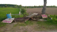 Free Scrap, Fence Posts, Gates, Wood/Boards, and Water Bowls
