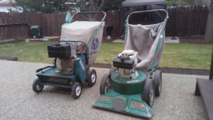 Power rake and a power vacuum for sale.