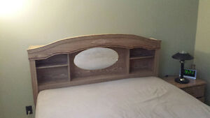 Queen,Double Size Bed Headboard with Night Table