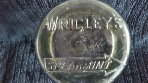 Wrigley Spearmint Store Counter Display Jar Smaller Size