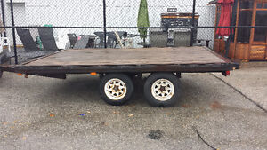 8x14 Dual Axle Deckover Flatbed Trailer Kitchener / Waterloo Kitchener Area image 4