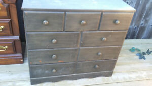Dark Brown Painted Dresser