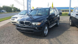 2005 BMW X5 AUTOMAIC 3.3L V6 BLACK WITH TAN LEATHER IN