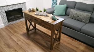 Rustic Desk - accent furniture (breadboard top)