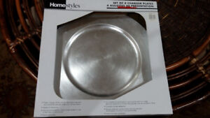 Homestyles Set of 4 charger plates
