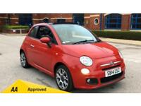 2014 Fiat 500 1.2 S with Upgraded Alloys and Manual Petrol Convertible