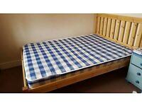 Double Bed and Mattress (perfect condition) 190 x 140 cm